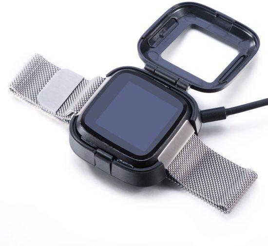 KELERINO. Oplader voor Fitbit Versa (Lite) - Zwart