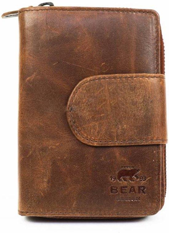 2802338f29b bol.com | Bear Design Dames Portemonnee Cow Lavato Cognac