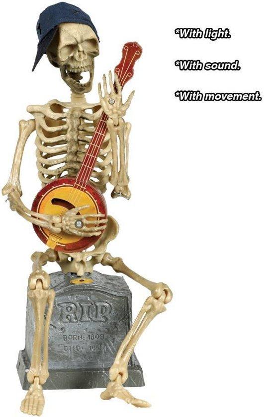 Halloween Pop Dansende Skelet met licht, geluid en beweging 35cm