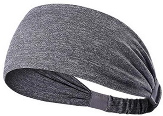 Fit Evolve Sports Hoofdband - Fleece - Haarband - Sports Hoofdband - Zweetband - Sporthaarband - Voetbal - Hardlopen - Fietsen - Fashion - Unisex -OneSize - Grijs