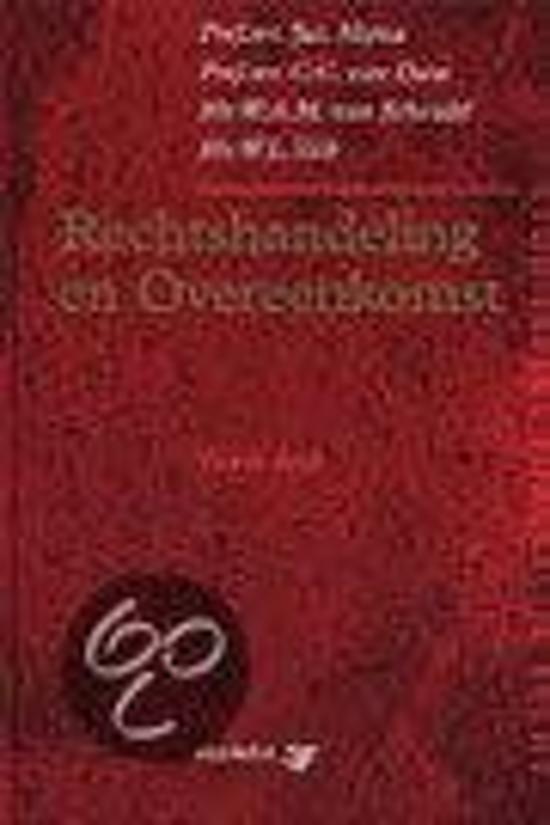 Boek cover Rechtshandeling en overeenkomst van C. van Dam (Hardcover)