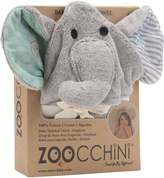 Zoocchini baby badcape 100% katoen - Elli the Elephant