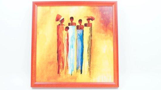 Fabulous bol.com | Schilderij Afrikaanse kunst vrouwen & 1 kind 36 CM X 36 CM @BE53