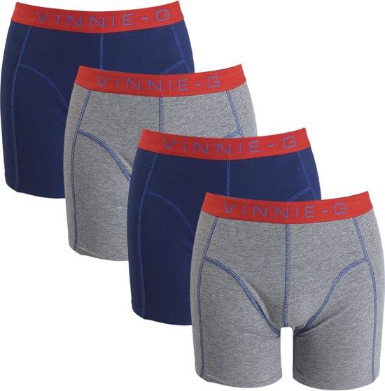 Vinnie-G boxershorts Flame Blue Uni 4-pack M