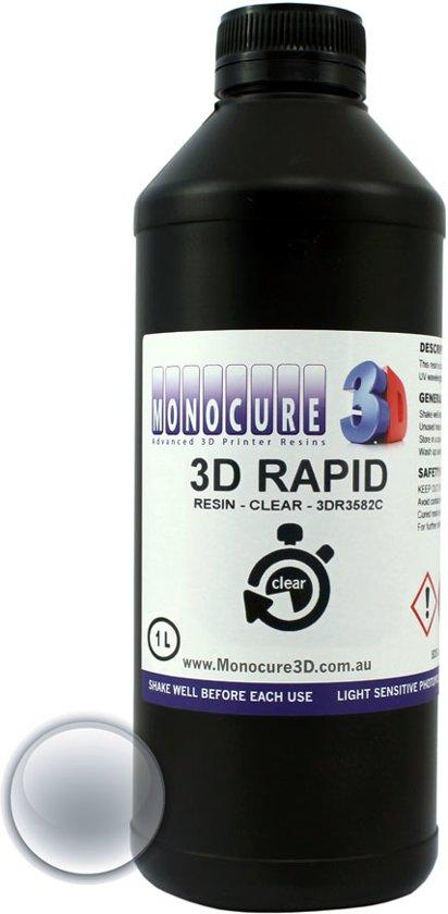 Monocure 3D Rapid Resin voor DLP 3D-printer 1 liter - clear