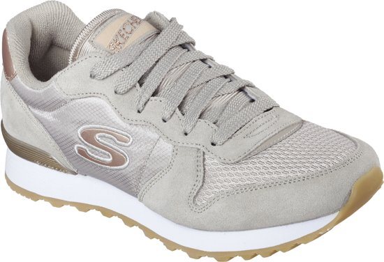 78b1c7557cd bol.com | Skechers Goldn Gurl taupe sneakers dames - maat 41