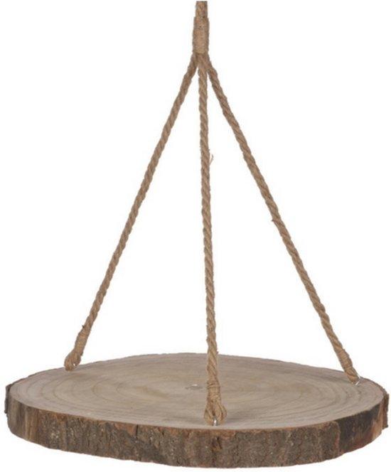 Hangplateau - boomschijf hout - 54cm