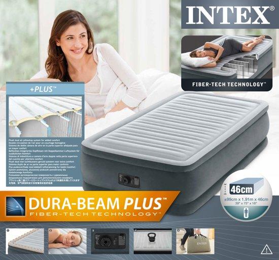 Intex Comfort Plush Horizontal Beam Luchtbed Twin