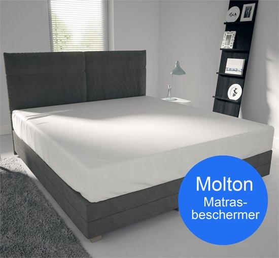 Hoogwaardige Molton  - 100x220 - 220 gram -  Matrasbeschermer
