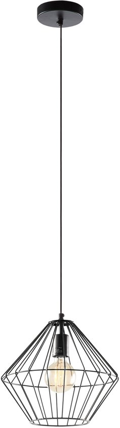 bol laforma hanglamp canady zwart metaal