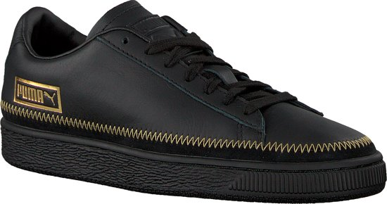 da34a7b9cce 40 Dames Puma Basket Zwart Wn's Maat Trim Metallic Sneakers vwq8Cw