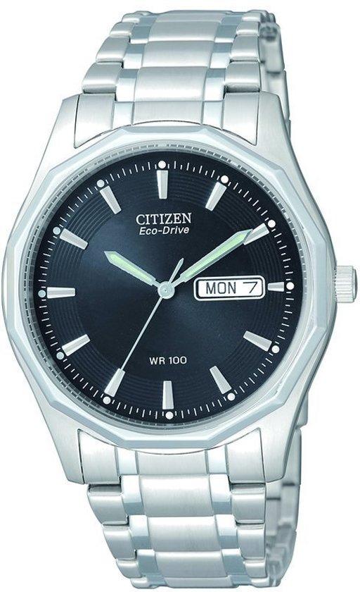 Citizen Eco-Drive BM8430-59EE - Horloge - Staal - Mannen - 37 mm - Zilverkleurig / Zwart