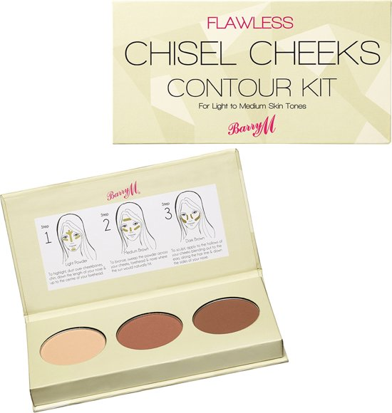Barry M Chisel Cheeks Contour Kit - Light-Medium