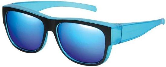 bed113564449eb Fitofar Overzetzonnebril Zwart Unisex Met Blauwe Spiegellens Vz0024k