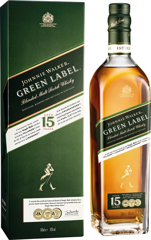 Johnnie Walker, 15 Y Green Label - 70 cl