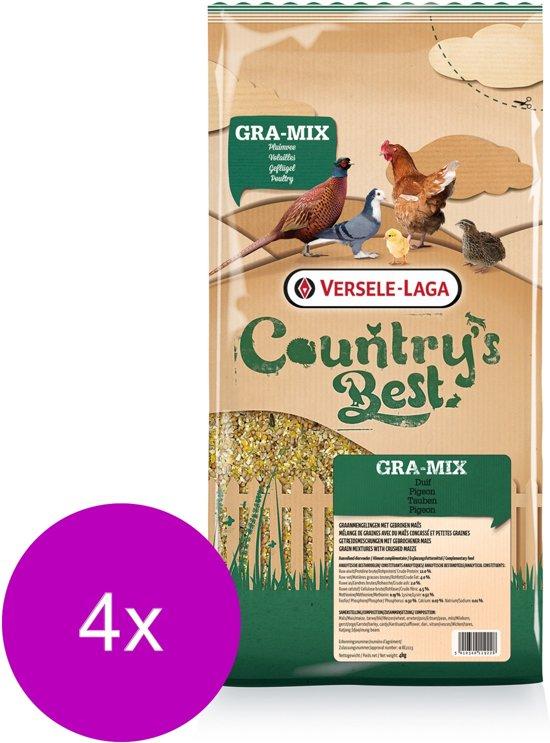 Versele-Laga Country`s Best Gra-Mix Sierduiven Gebroken Mais - Pluimveevoer - 4 x 4 kg