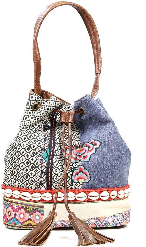 Desigual - Schoudertas - Bucket bag - Afneembare riem - Ruim opbergvak  - Schoudertas - Multi