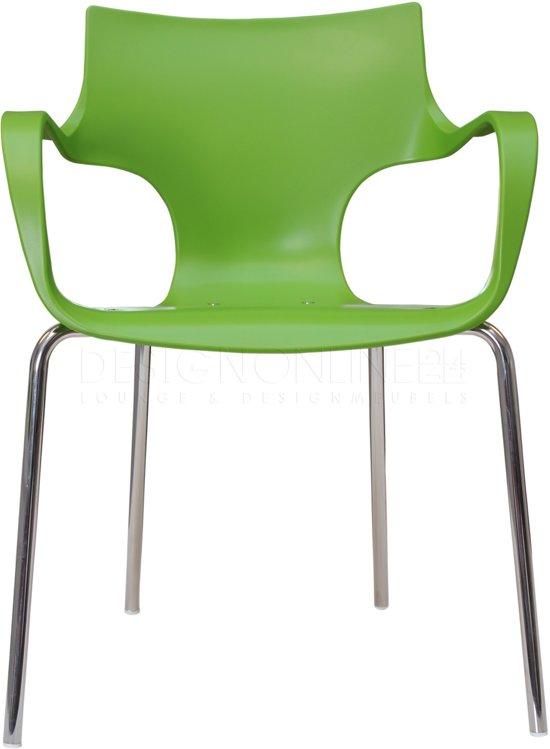 24Designs Stapelbare Stoel Jim - Armleuningen - Groen