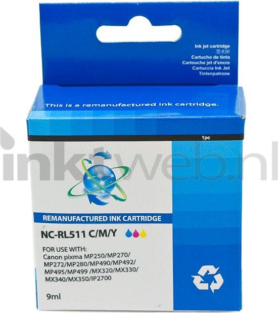 Merkloos - Inktcartridge / Alternatief voor de Canon CL-511 / Kleur