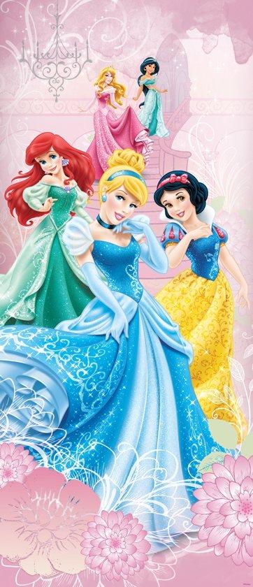 Fotobehang Disney, Prinsessen | Roze | 91x211cm