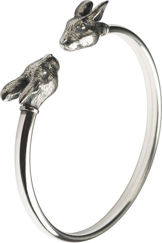 Zodiac Armband Konijn: Zilver S