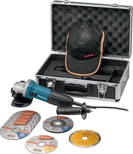 Makita Haakse Slijper GA5030RSP2 - 230 V - 125 mm - Incl. Koffer En Accessoire Set