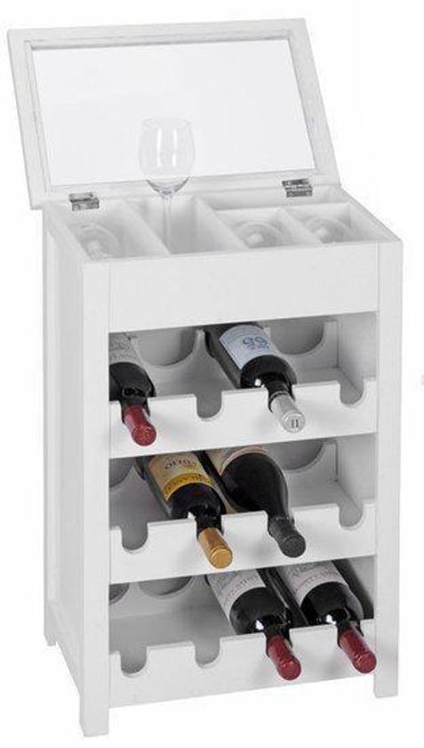 Bolcom Wijnkastje Voor 12 Flessen Wit