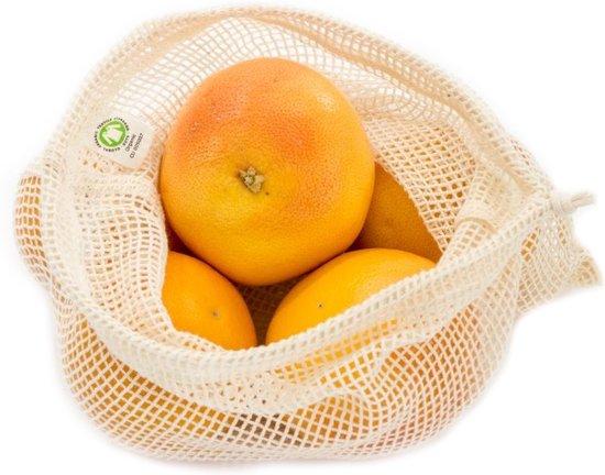 Bo weevil 2 stuks Herbruikbare Groentezak/ Fruitzak - Maat M - Biologisch katoen