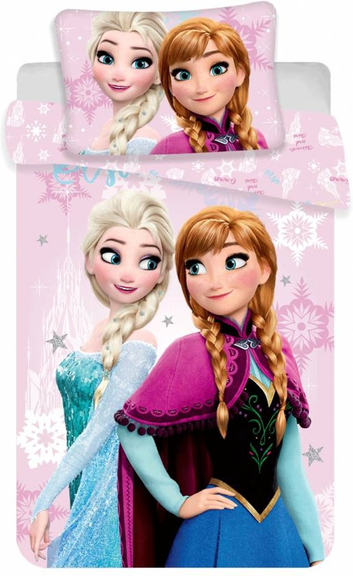 Disney Frozen Pink - Baby Dekbedovertrek - 100 x 135 cm - Multi