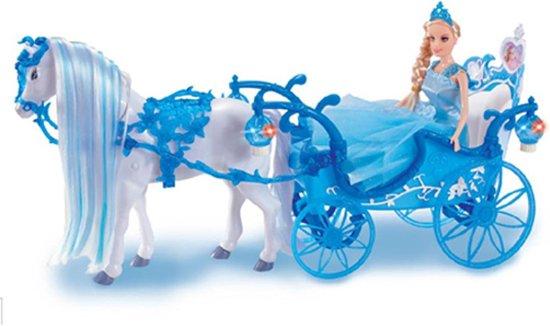 Paard Met Koets Set Met Pop