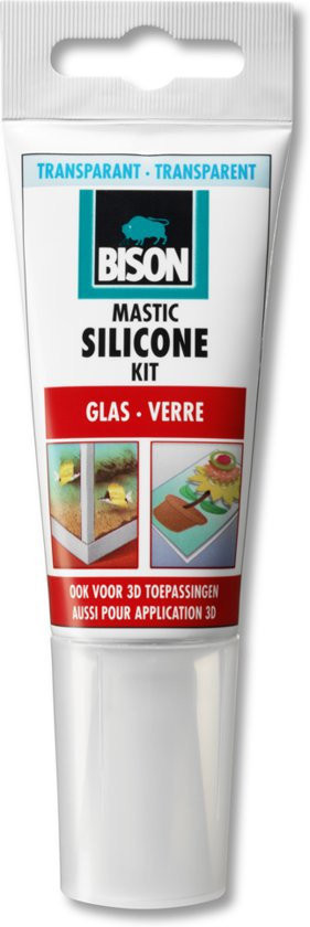 Bison Siliconenkit Glas Tube - Transparant - 60 ml
