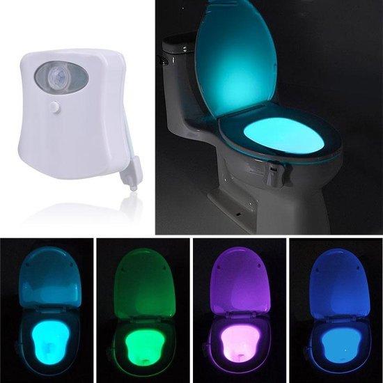 bol.com | LED lamp voor in de toilet met bewegingssensor en 8 ...