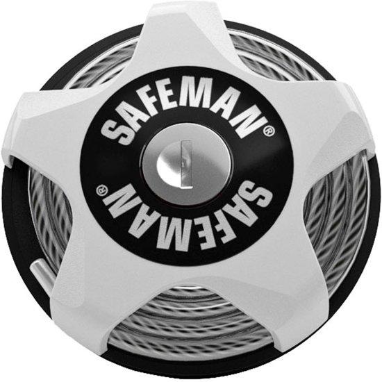 Safeman - Sterk multifunctioneel kabelslot voor (sport)materiaal - Wit