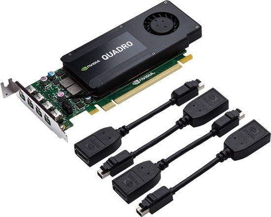 PNY VCQK1200DP-PB videokaart Quadro K1200 4 GB GDDR5