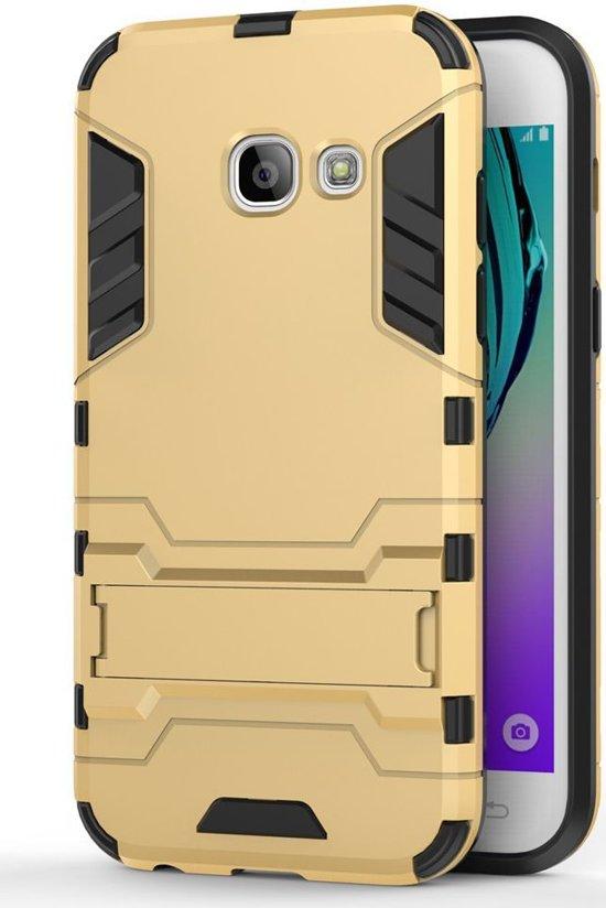 Hybride Samsung Galaxy A3 (2017) Hoesje Goud in Villers-sur-Lesse