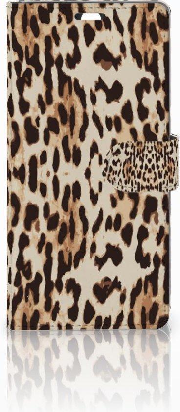 Sony Xperia C5 Ultra Uniek Boekhoesje Leopard