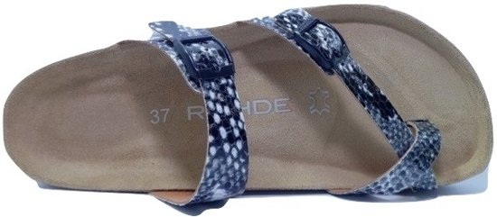 Rohde Teenslippers 5597 Zwart Wit Animal Print G 38