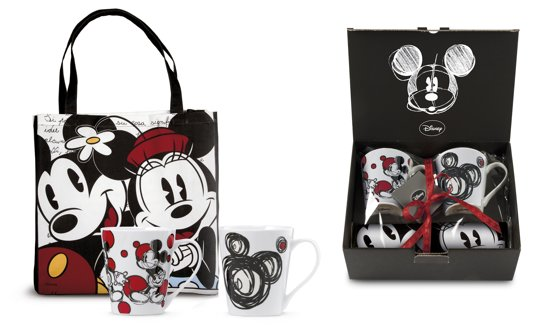 Disney cadeauset 17 Mickey mouse 2 tassen met shopping bag