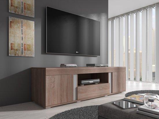 tv meubel alvarez truffel eiken 160 cm. Black Bedroom Furniture Sets. Home Design Ideas