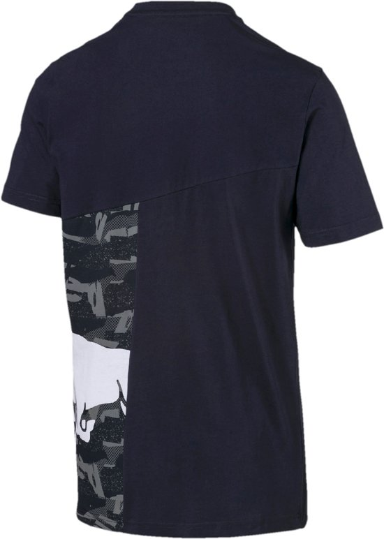 PUMA Red Bull Racing Double Bull Tee Shirt Heren - Night Sky