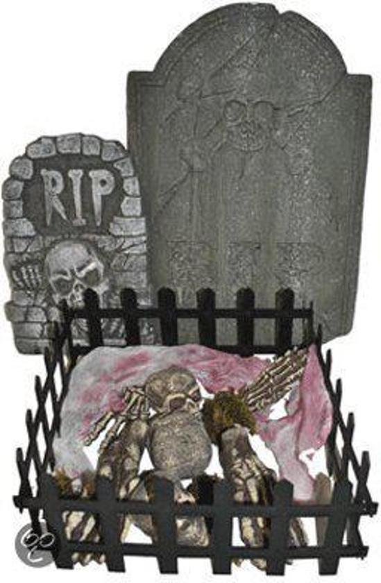 Halloween Decoratie Bestellen.Bol Com Halloween Graf Met Grafstenen Decoratie Fun