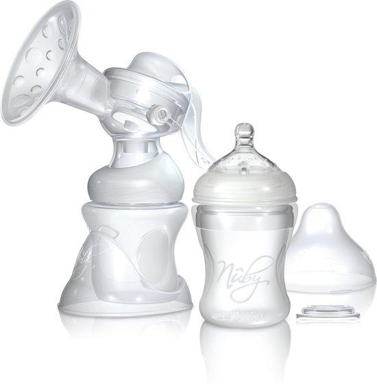 Handmatige borstkolf inclusief 2 drinkflessen (150ml & 240ml) en 2 zoogcompressen