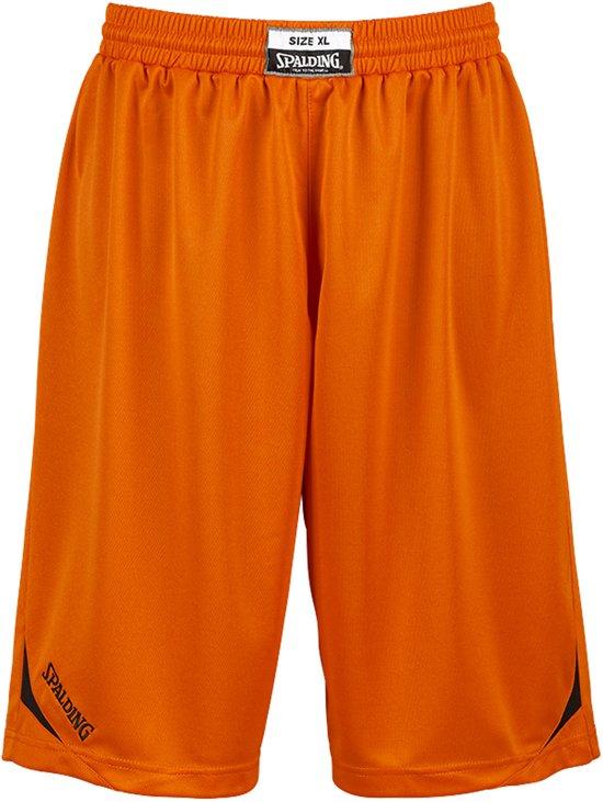 Spalding Attack Basketbalbroek - Maat L  - Mannen - oranje/zwart