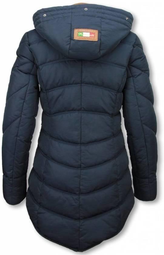 Blauwe Slim fit Dames Winterjassen | KLEDING.nl | Vergelijk