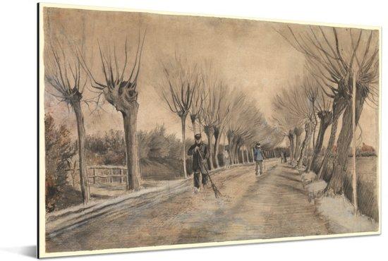Weg in Etten - Schilderij van Vincent van Gogh Aluminium 60x40 cm - Foto print op Aluminium (metaal wanddecoratie)