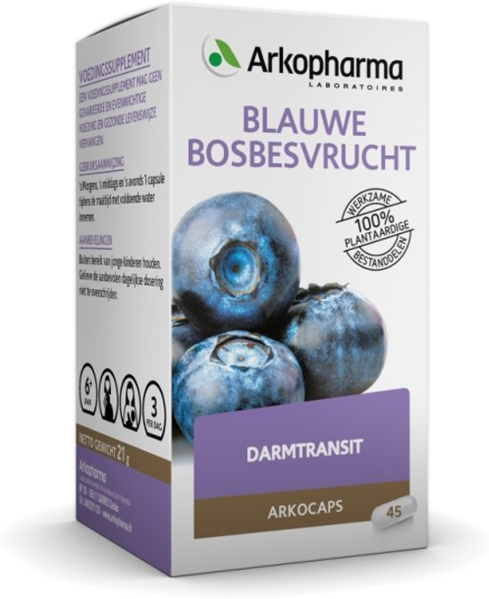 Arkocaps Blauwe Bosbesvrucht - 45 Capsules - Voedingssupplement