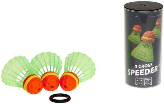 Speedminton Speedertube Cross - 3 stuks - speedbadminton