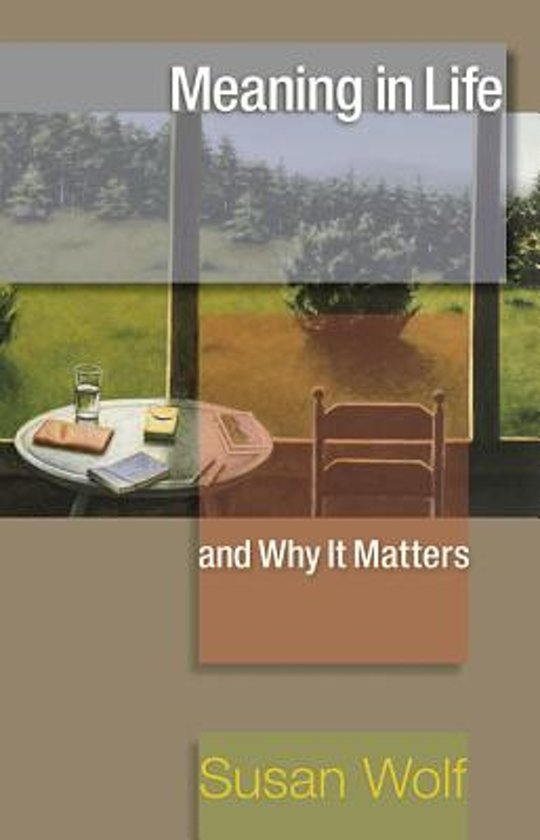 Boek cover Meaning in Life and Why It Matters van Susan Wolf (Paperback)