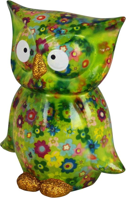 Owl Bo spaarpot   Uil - goren met bloemen   Pomme pidou