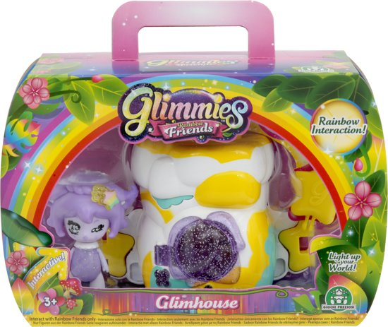 Glimmies Glimhouse Huis Rots - met 1 Glimmies Rainbow Friends Exclusive